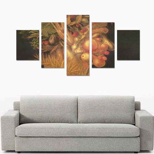 Awesome Painting Summer from Guiseppe Arcimboldo Canvas Print Sets B (No Frame)