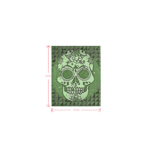 Trendy Skull, green by JamColors Logo for Men&Kids Clothes (4cm X 5cm)