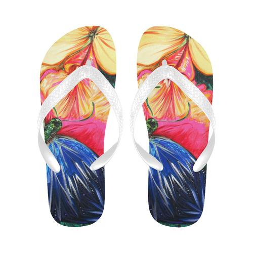 Butterfly Life New Flip Flops for Men/Women (Model 040) (Both Customized)