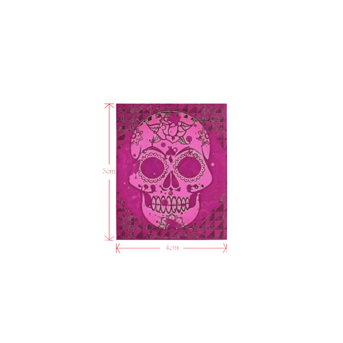 Trendy Skull, pink by JamColors Logo for Men&Kids Clothes (4cm X 5cm)