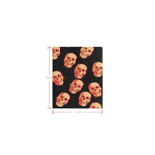 skulls orange by JamColors Logo for Men&Kids Clothes (4cm X 5cm)