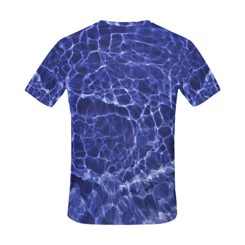 Rattled Water All Over Print T-Shirt for Men (USA Size) (Model T40)