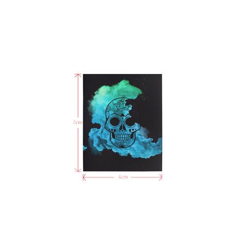 smoky skull B Logo for Men&Kids Clothes (4cm X 5cm)