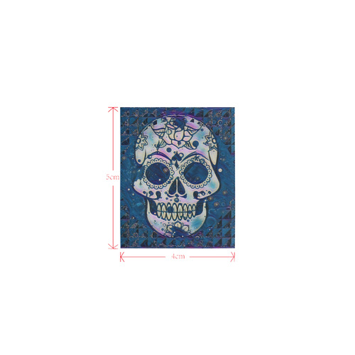 funky Skull C by Jamcolors Logo for Men&Kids Clothes (4cm X 5cm)