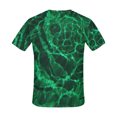 The Green Dive All Over Print T-Shirt for Men (USA Size) (Model T40)