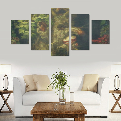 Awesome Painting Winter from Guiseppe Arcimboldo Canvas Print Sets B (No Frame)