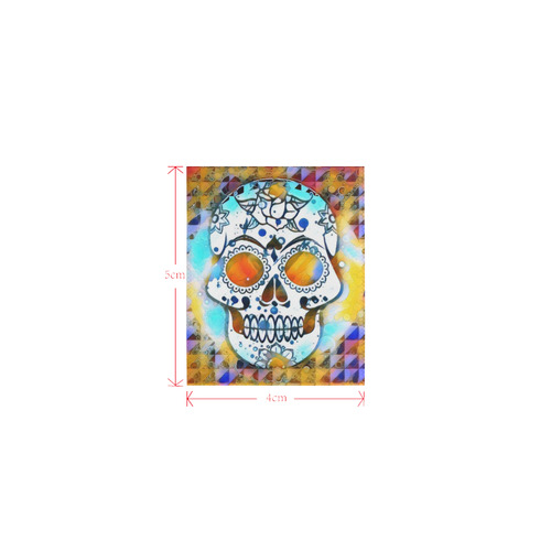 funky Skull A by Jamcolors Logo for Men&Kids Clothes (4cm X 5cm)