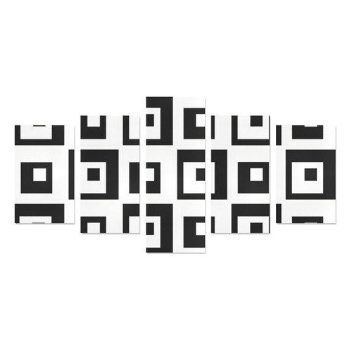 Black & White Cubes Canvas Print Sets C (No Frame)