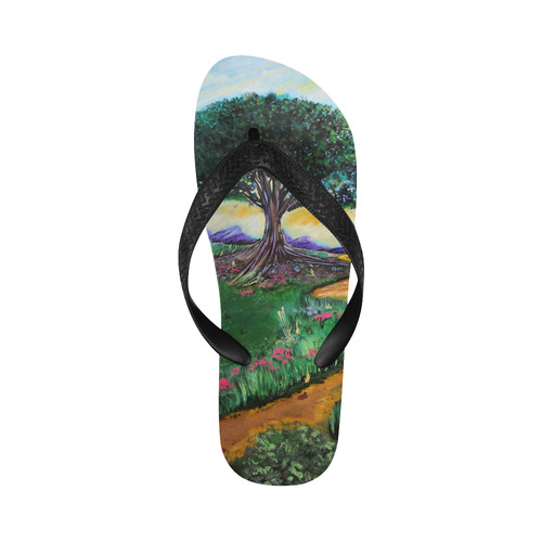 Tree Of Imagination New Flip Flops for Men/Women (Model 040) (Both Customized)
