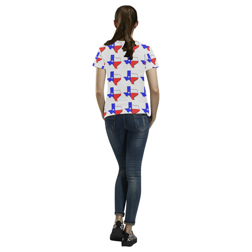Texas T All Over Print T-Shirt for Women (USA Size) (Model T40)