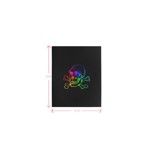 Skull 816 (Halloween) rainbow Logo for Men&Kids Clothes (4cm X 5cm)