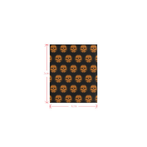 Sugarskull Pattern, orange by JamColors Logo for Men&Kids Clothes (4cm X 5cm)