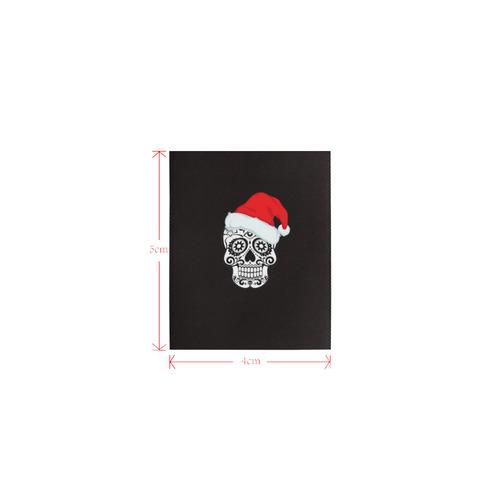 christmas skull 2 Logo for Men&Kids Clothes (4cm X 5cm)