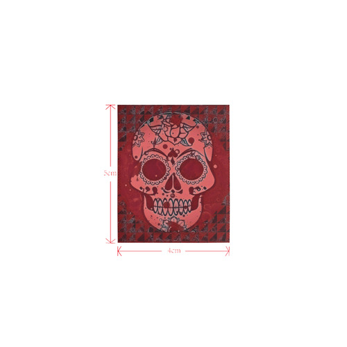 Trendy Skull, red by JamColors Logo for Men&Kids Clothes (4cm X 5cm)