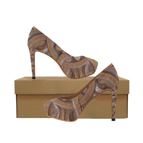 Flower Tile Women's High Heels (Model 044)