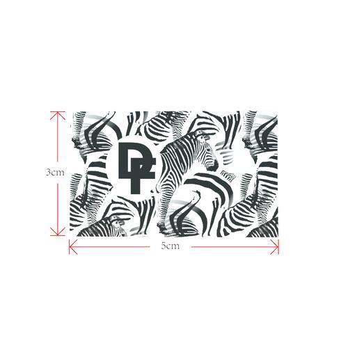 DF Zebra Logo Private Brand Tag on Shoes Tongue  (5cm X 3cm)