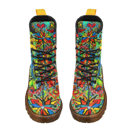 Garden Party 2 leather boots2 High Grade PU Leather Martin Boots For Men Model 402H