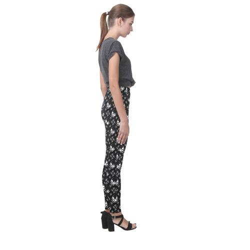 Baphomet Skulls Gothic Print Cassandra Women's Leggings (Model L01)