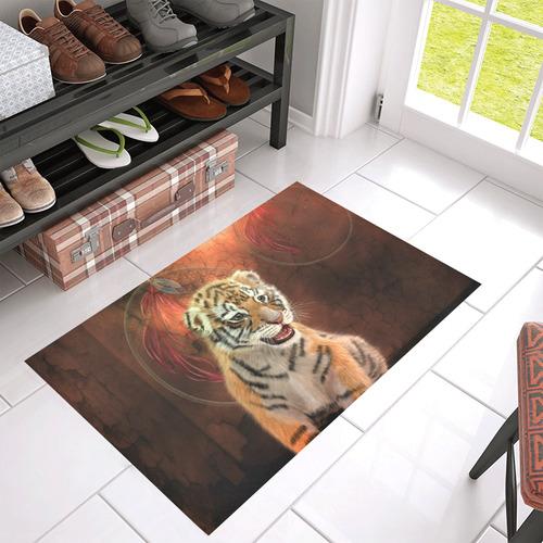 "Cute little tiger Azalea Doormat 30"" x 18"" (Sponge Material)"