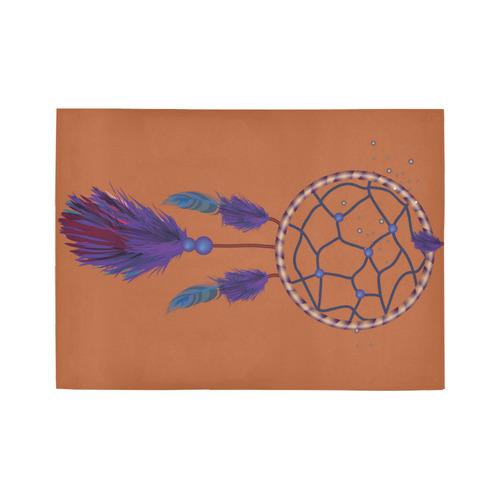 Purple Blue Dreamcatcher Boho Ethnic Area Rug7'x5'