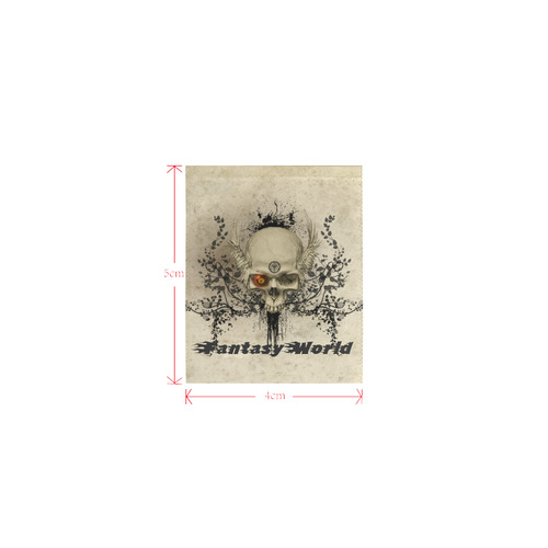 Amazing skull with wings,red eye Logo for Women's Clothes (4cm X 5cm)