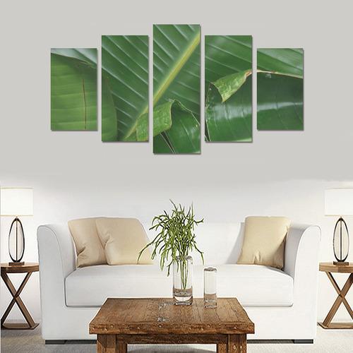 Banana Leaves Canvas Print Sets A (No Frame)