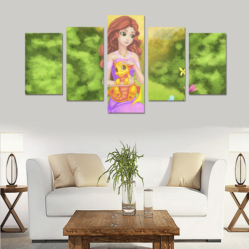 Fairytale Princess Canvas Print Sets C (No Frame)