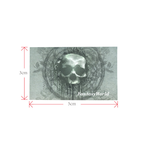 Awesome skull with bones and grunge Private Brand Tag on Bags Inner (Zipper) (5cm X 3cm)