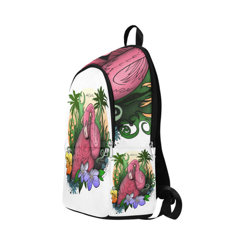 Flamingo Fabric Backpack for Adult (Model 1659)