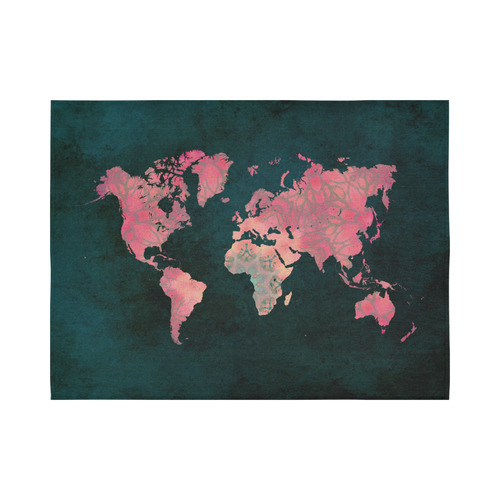 map of the world Cotton Linen Wall Tapestry 80