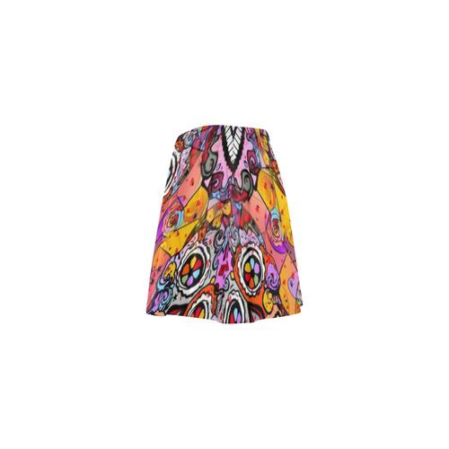 Los muertos Popart by Nico Bielow Mini Skating Skirt (Model D36)