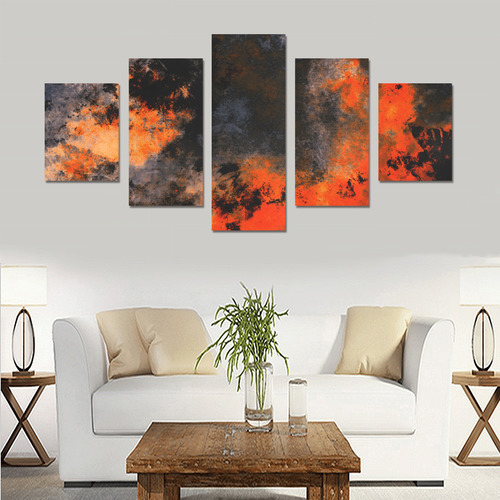 abstraction colors Canvas Print Sets B (No Frame)
