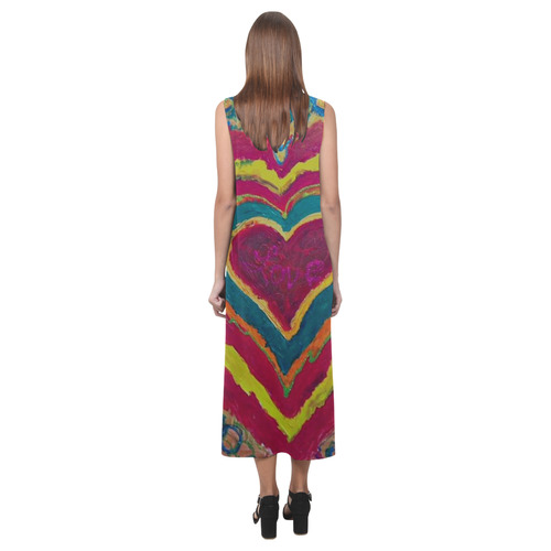 LOVE IS IN THE HEART Phaedra Sleeveless Open Fork Long Dress (Model D08)