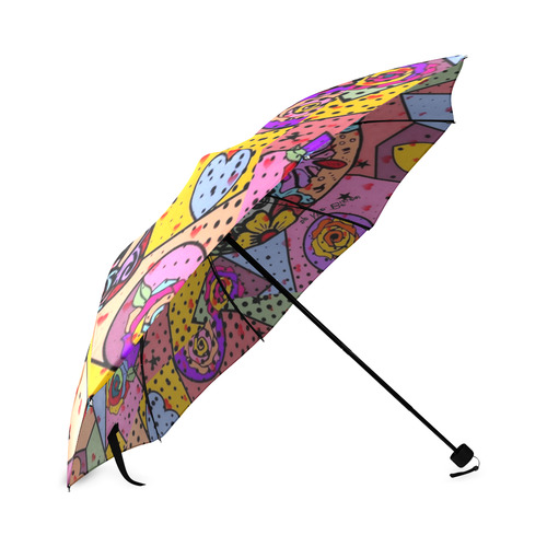 Los muertos Popart by Nico Bielow Foldable Umbrella (Model U01)