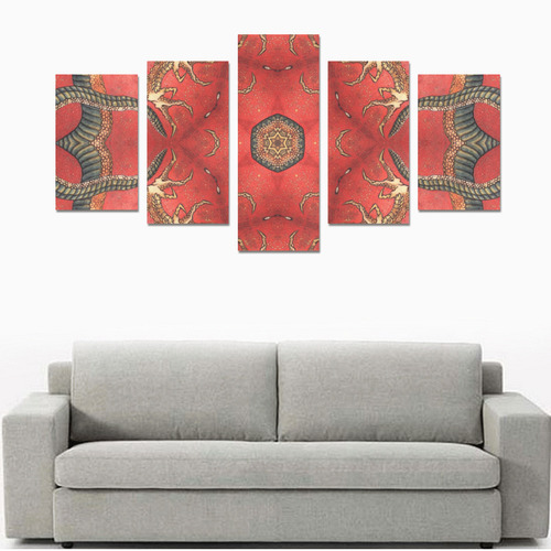 magic mandala 8 Canvas Print Sets C (No Frame)