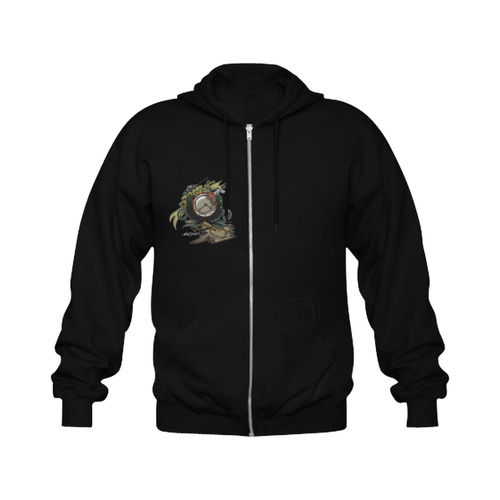 End Of Time Gildan Full Zip Hooded Sweatshirt (Model H02)