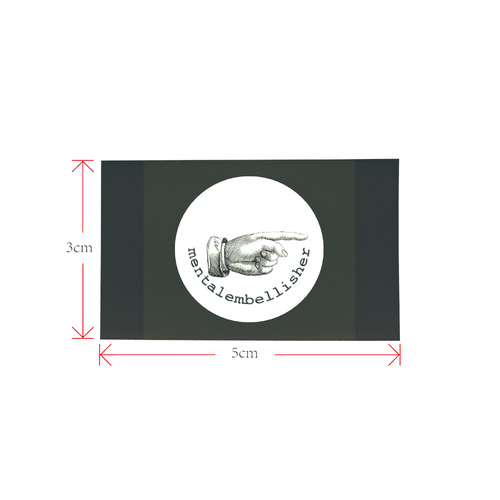 Shoe Label Private Brand Tag on Shoes Tongue  (5cm X 3cm)
