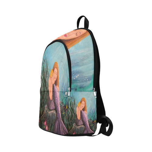 Mermaid Under The Sea Fabric Backpack for Adult (Model 1659)