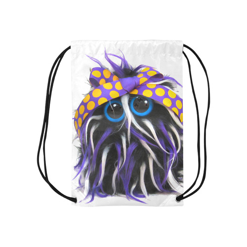 "The Rapture Small Drawstring Bag Model 1604 (Twin Sides) 11""(W) * 17.7""(H)"
