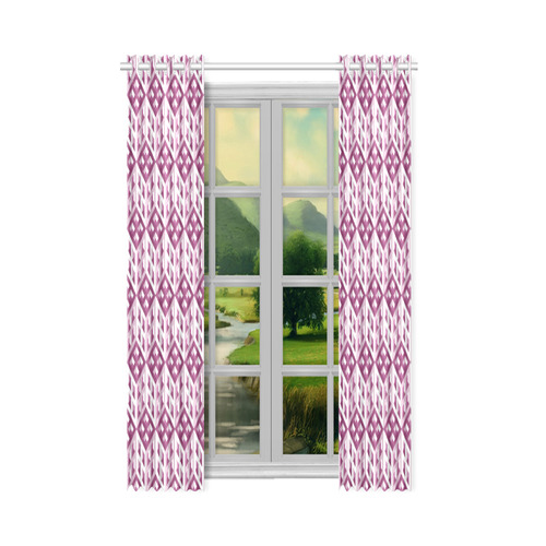 """3D Pattern Lilac Pink White Fractal Art 2 New Window Curtain 52"""" x 72""""(One Piece)"""