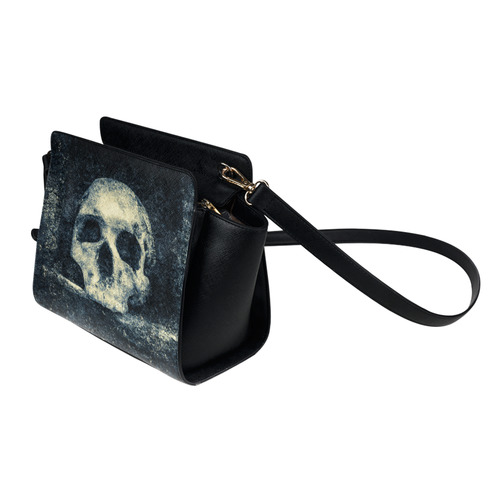 Man Skull In A Savage Temple Halloween Horror Satchel Bag (Model 1635)