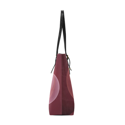 Movement Abstract Modern Wine Red Pink Fractal Art Euramerican Tote Bag/Small (Model 1655)