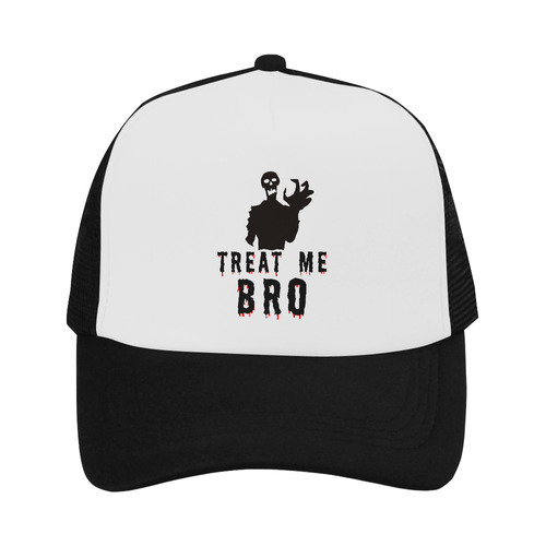 Halloween Horror Zombie Treat Me Bro funny cool Trucker Hat