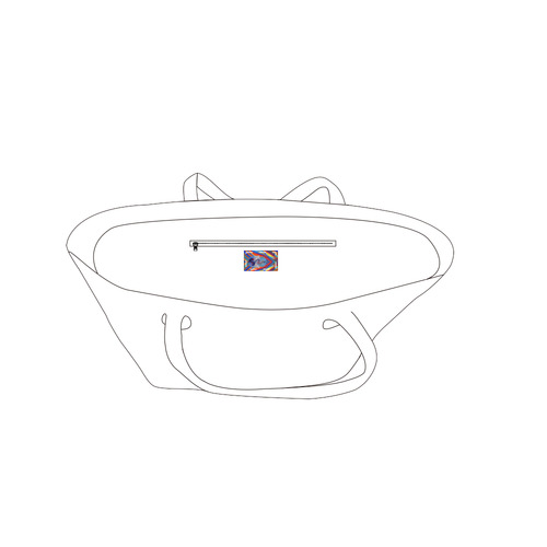 energy 2-hamsa 2 draft Private Brand Tag on Bags Inner (Zipper) (5cm X 3cm)