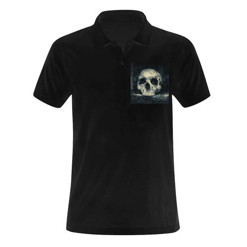 Man Skull In A Savage Temple Halloween Horror Men's Polo Shirt (Model T24)