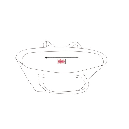 hamsa voile 4 Private Brand Tag on Bags Inner (Zipper) (5cm X 3cm)