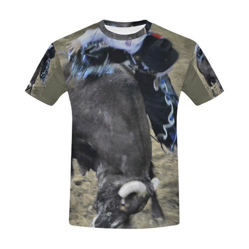 A LOTTA BULL,esq All Over Print T-Shirt for Men (USA Size) (Model T40)