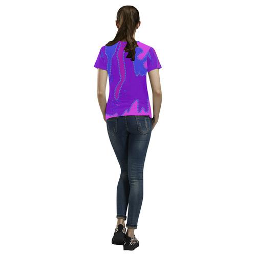 Art All Over Print T-Shirt for Women (USA Size) (Model T40)