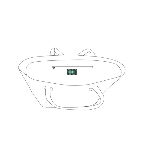 hamsa 3-3.s Private Brand Tag on Bags Inner (Zipper) (5cm X 3cm)