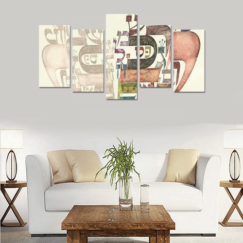 coeur alphabet1 Canvas Print Sets E (No Frame)